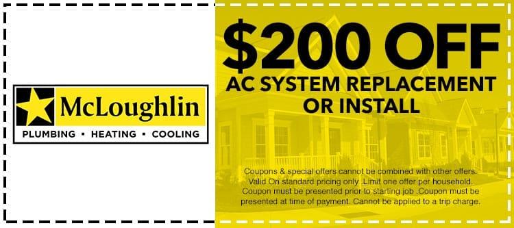Coupons Amp Specials Mcloughlin Plumbing Heating Amp Cooling