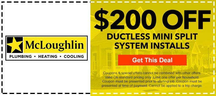 discount on ductless mini split system installation