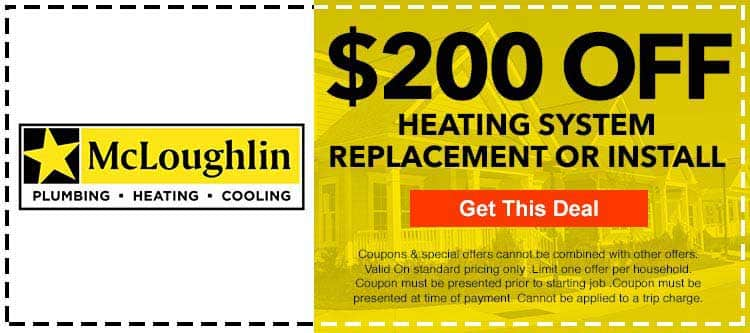 discount on heating system replacement or Install